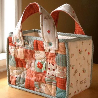 Текстильная сумка в технике лоскутного шитья